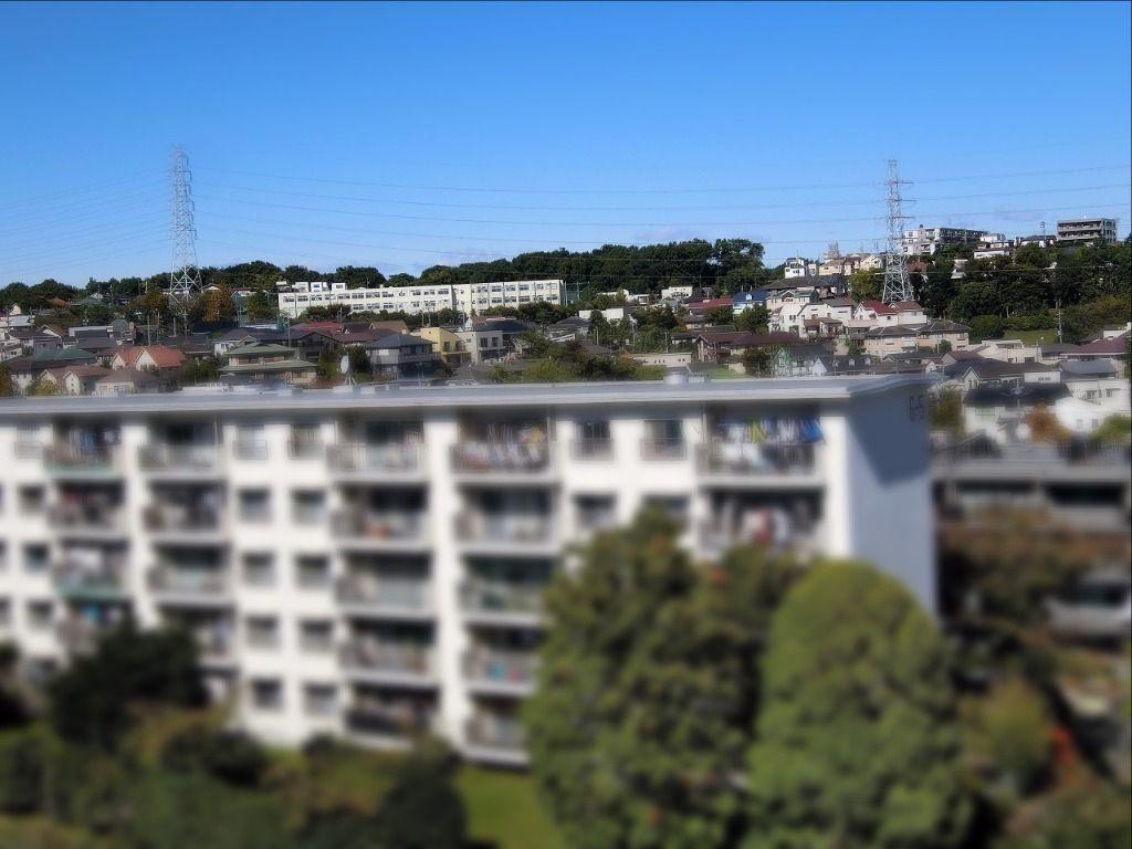 たまプラーザ団地から見た【美しが丘中学校】