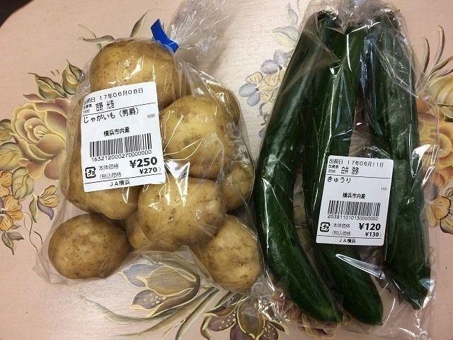 たまプラーザ駅前「ハマッ子」直売所の ジャガイモ・きょうり